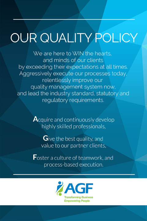 our quality policy