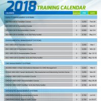 AGF 2018 TRAINING CALENDAR